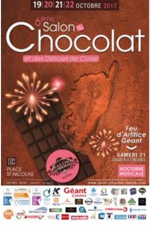 Salon du chocolat à Bastia les 19,20,21 et 22 octobre
